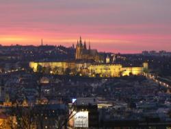 Wieczorowa panorama Hradczan